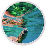 Hono Abstract Round Beach Towel