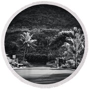 Round Beach Towel featuring the photograph Honokohau Maui Hawaii by Sharon Mau