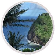 Honolii Round Beach Towel