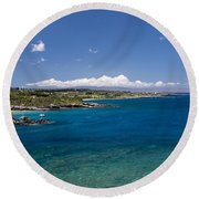 Honolua Bay Round Beach Towel