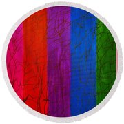 Honor The Rainbow Round Beach Towel