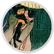 Honorable Mr. Cat 1903 Round Beach Towel by Padre Art