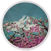 Hood Blossoms Round Beach Towel
