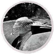 Hood Ornament Detail Round Beach Towel
