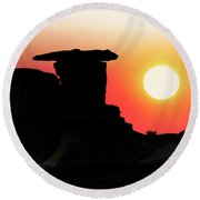 Hoodoo Sunrise Round Beach Towel