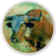 Hook 'em 1 Round Beach Towel by Colleen Taylor