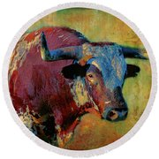 Hook 'em 2 Round Beach Towel by Colleen Taylor