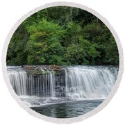 Hooker Falls Round Beach Towel by Steven Richardson