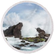 Hookipa Point Round Beach Towel