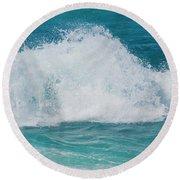 Round Beach Towel featuring the photograph Hookipa Splash Waves Beach Break Shore Break Pacific Ocean Maui  by Sharon Mau