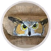 Hoot Owl Round Beach Towel