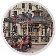 Hooven Mercantile Building Round Beach Towel