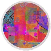 Hope And Dreams Round Beach Towel by Angela L Walker