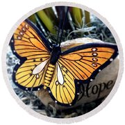 Hope Round Beach Towel by Carlos Avila
