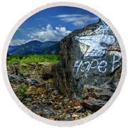 Round Beach Towel featuring the photograph Hope II by John Poon