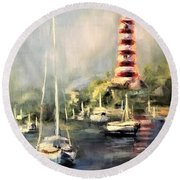Hope Town Harbor Round Beach Towel