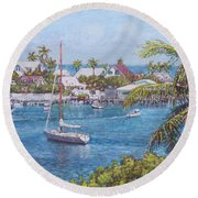 Hope Town Haven Round Beach Towel