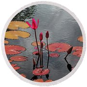 Round Beach Towel featuring the photograph Hopefully Ever After by Michiale Schneider