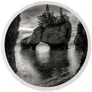 Hopewell Rocks Round Beach Towel