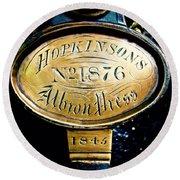 Hopkinson's Albron Press Round Beach Towel
