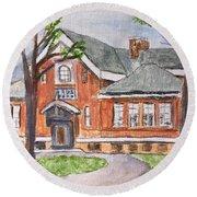 Horace Mann School Amesbury Ma Round Beach Towel