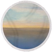 Horizon Aglow Round Beach Towel