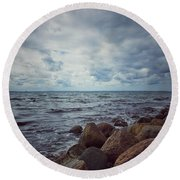 Horizon Round Beach Towel by Karen Stahlros