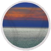 Horizontal Sunset Round Beach Towel