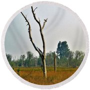 Horn Tree Round Beach Towel