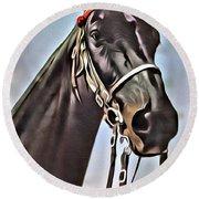 #horse 1 Round Beach Towel