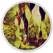 Horse Legs Round Beach Towel