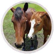 Horse Love Round Beach Towel