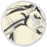 Horse - Lovely Round Beach Towel