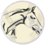 Horse - Lovely Round Beach Towel