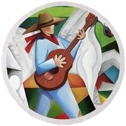 Horse Song Round Beach Towel