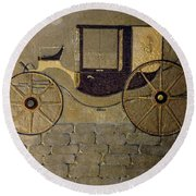 Horseless Carriage Round Beach Towel