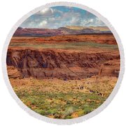 Horseshoe Bend Arizona #2 Round Beach Towel by Jennifer Rondinelli Reilly - Fine Art Photography