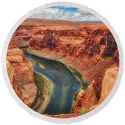 Horseshoe Bend Arizona - Colorado River #2 Round Beach Towel by Jennifer Rondinelli Reilly - Fine Art Photography