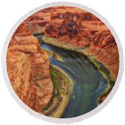 Round Beach Towel featuring the photograph Horseshoe Bend Arizona - Colorado River #3 by Jennifer Rondinelli Reilly - Fine Art Photography