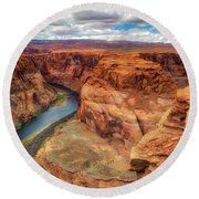 Horseshoe Bend Arizona - Colorado River $4 Round Beach Towel by Jennifer Rondinelli Reilly - Fine Art Photography