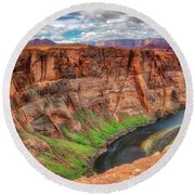 Round Beach Towel featuring the photograph Horseshoe Bend Arizona - Colorado River #5 by Jennifer Rondinelli Reilly - Fine Art Photography