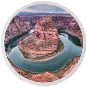 Horseshoe Bend Arizona Round Beach Towel