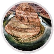 Horseshoe Bend Colorado River Round Beach Towel