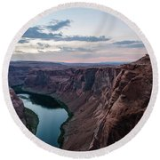 Round Beach Towel featuring the photograph Horseshoe Bend No. 2 by Margaret Pitcher