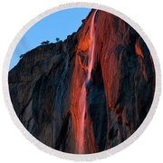 Horsetail Falls 2016 Round Beach Towel