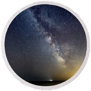 Hot August Night Milky Way Round Beach Towel
