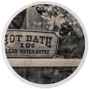Hot Bath Round Beach Towel