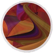Hot Curvelicious Round Beach Towel