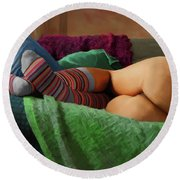 Hot Dreams #2 Round Beach Towel