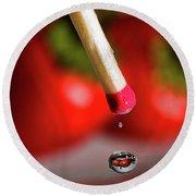 Hot Pepper Drops Round Beach Towel